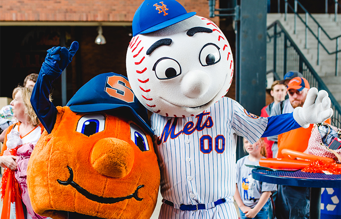 SU Day at Citi Field Otto and Mr Met